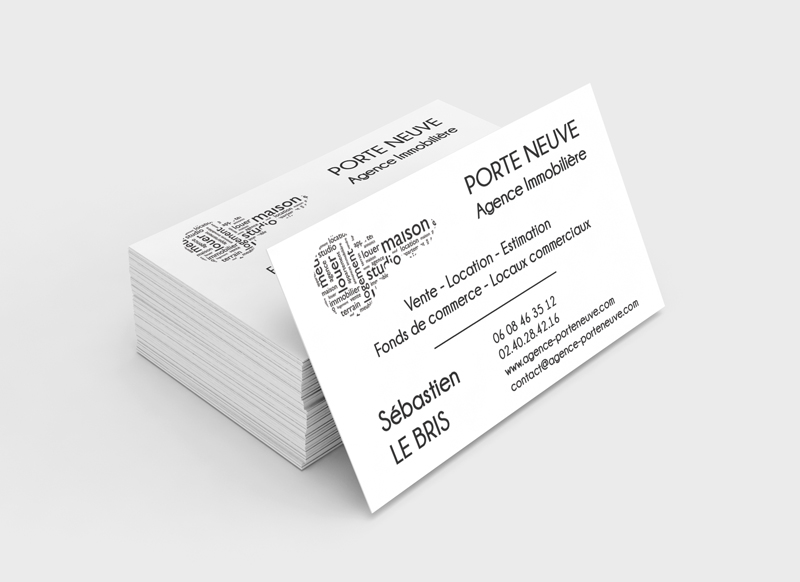 Nouveau Logo Et Cartes De Visites Pour Lagence Porte Neuve