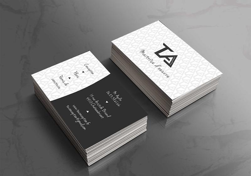 Favori graphique et cartes de visite de l'entreprise TA Conception DV15
