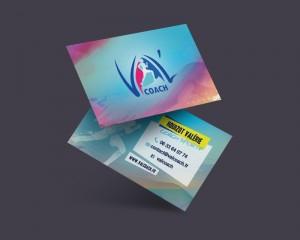 Carte De Visite Pour VALCOACH Realisation Dun Logo Dune Charte Graphique Et Cartes La Coach Sportive Situee A Paris