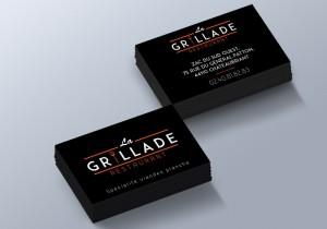 Cartes De Visite Du Restaurant La Grillade Ralisation Dune Charte Graphique Dun Logo Et Modle Carte Pour Le