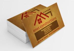 Cartes De Visites Lentreprise ENES Constructions Ralisation Dune Charte Graphique Et Dun Modle Visite Pour Enes